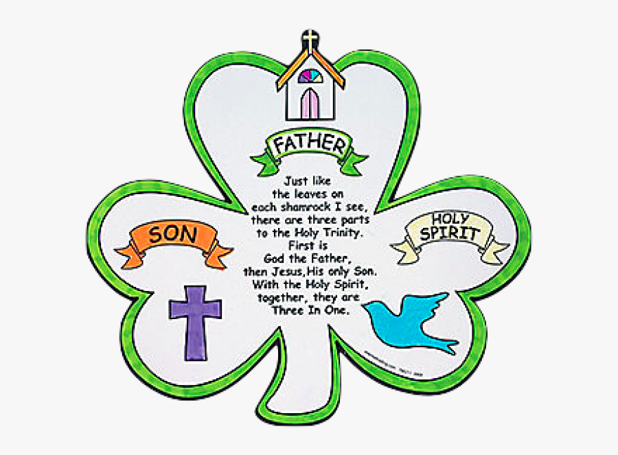 Clip Art Poems The Symbol Of - Father Son Holy Spirit Shamrock, Transparent Clipart