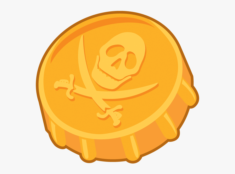 Coin Clipart Gold Doubloon - Pirate Gold Coins Clipart, Transparent Clipart