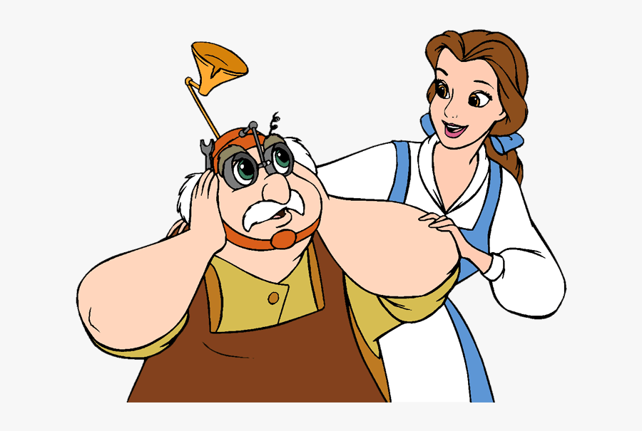 Beauty And The Beast Group Clip Art - Maurice Beauty And The Beast Clipart, Transparent Clipart
