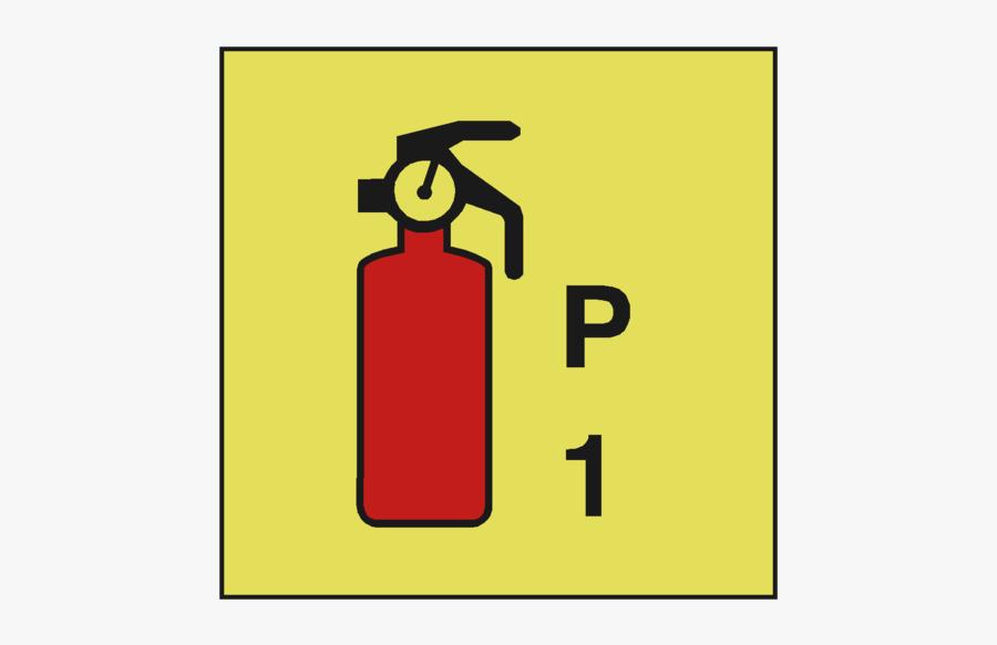 Powder Fire Extinguisher P1 Imo - Powder Fire Extinguisher 2kg Imo Symbol, Transparent Clipart