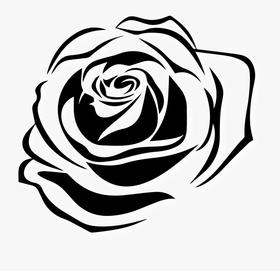 Clip Art Black And White Rose Tattoo - Black Rose Tattoo Transparent, Transparent Clipart