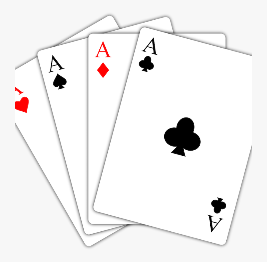 4 Aces - Playing Cards Png, Transparent Clipart