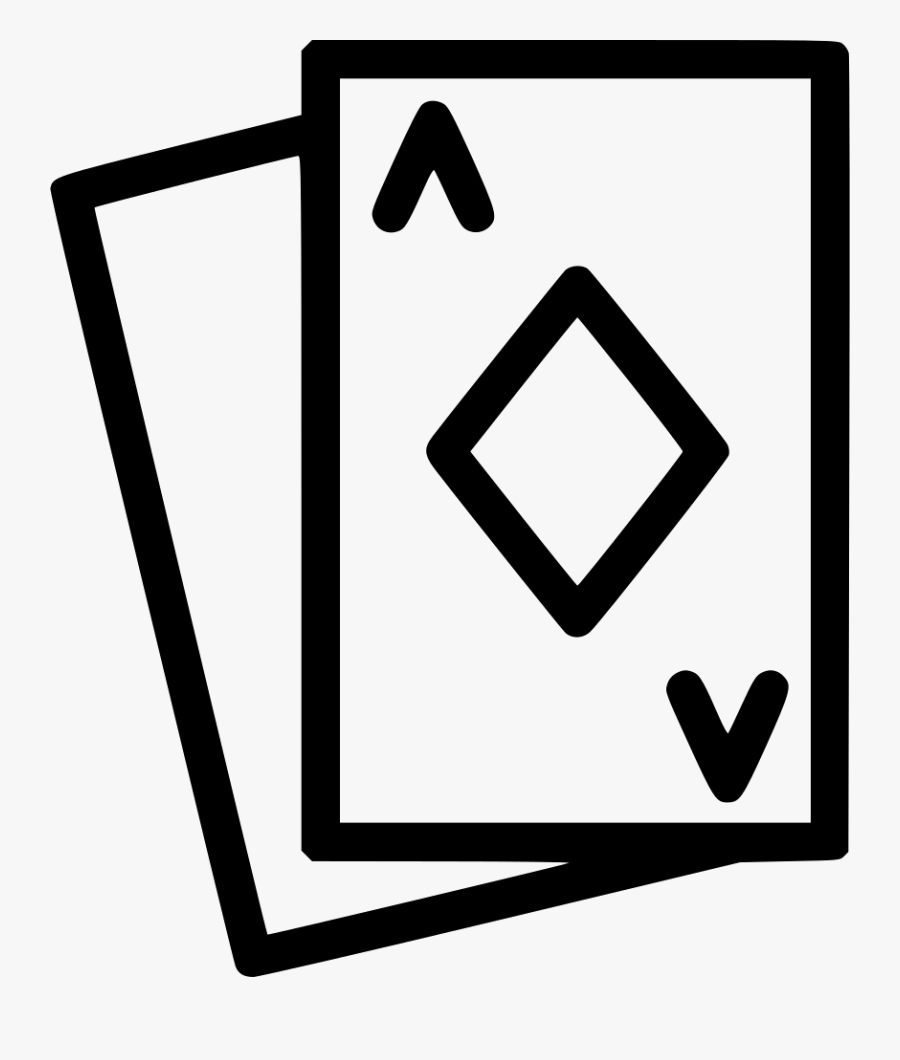 Playing Cards Ace Poker Heart Spades Game Comments - Card Game Font Icon, Transparent Clipart
