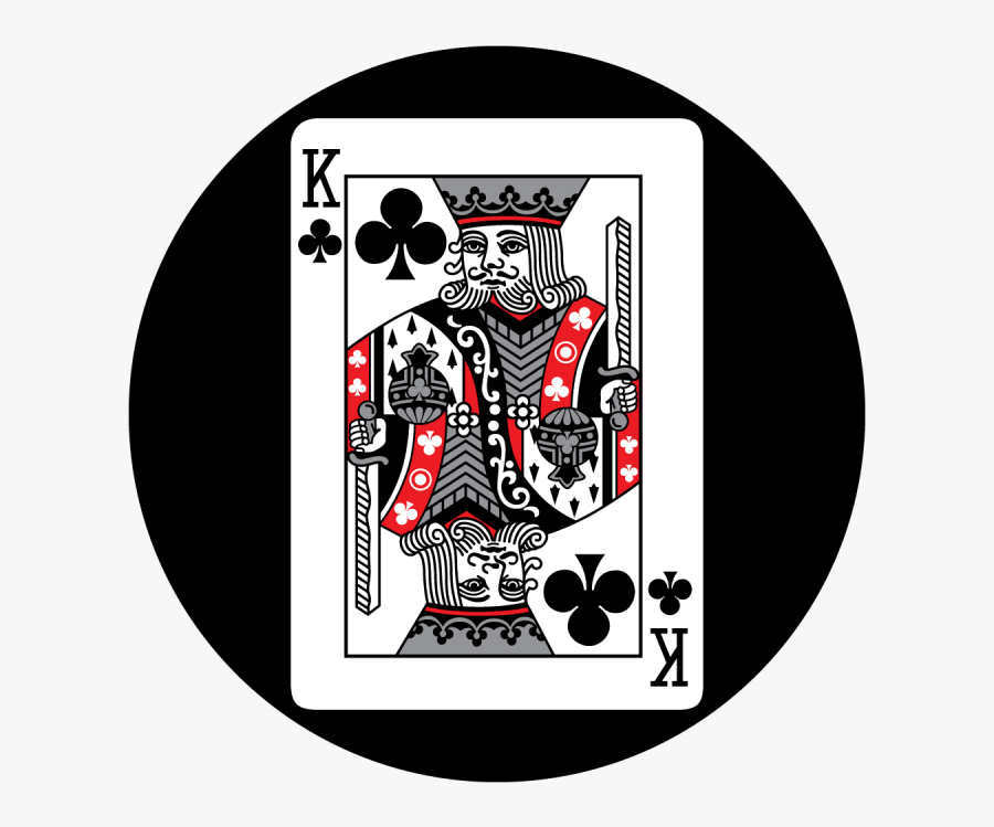 Transparent King Of Hearts Playing Card Clipart - King Of Clubs, Transparent Clipart
