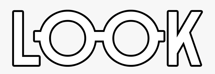 Eyewear,line And White,clip Art,font,symbol,coloring - Look, Transparent Clipart
