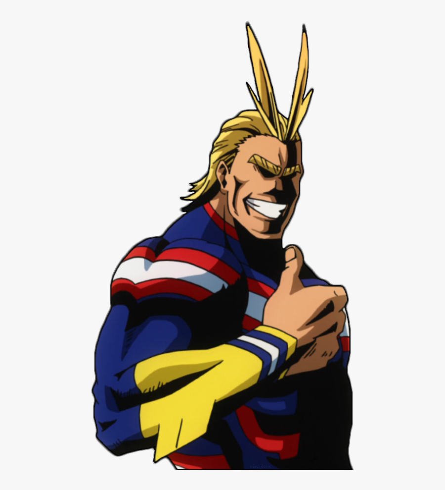 """Heroism Is Universal Look It""""s A Transparent All Might, - All Might Thumbs Up, Transparent Clipart"""