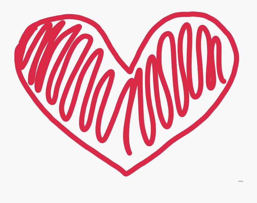 Doodles Clipart Heart - Heart Shape Doodle Png, Transparent Clipart