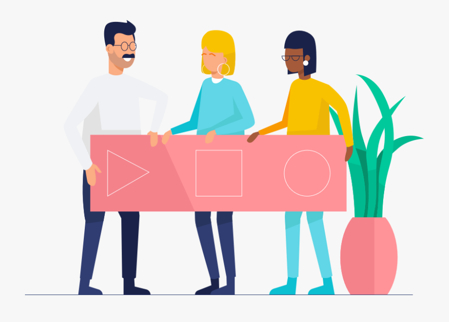 Teamwork & Startup Illustrations, Transparent Clipart