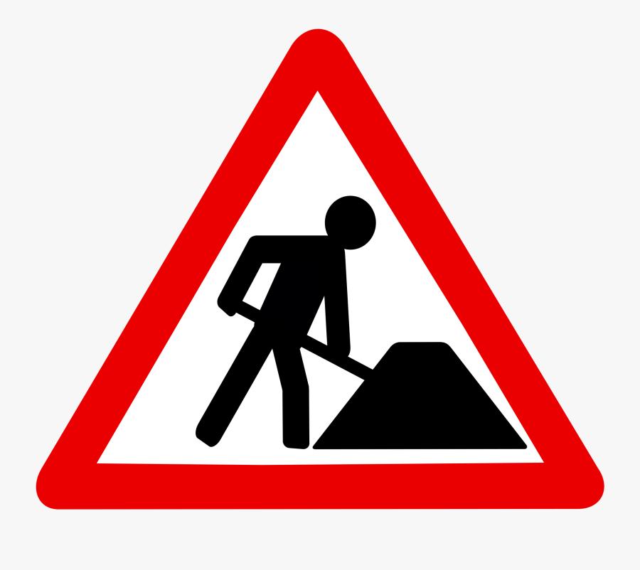 Transparent Construction Sign Clipart - Use The Zebra Crossing, Transparent Clipart