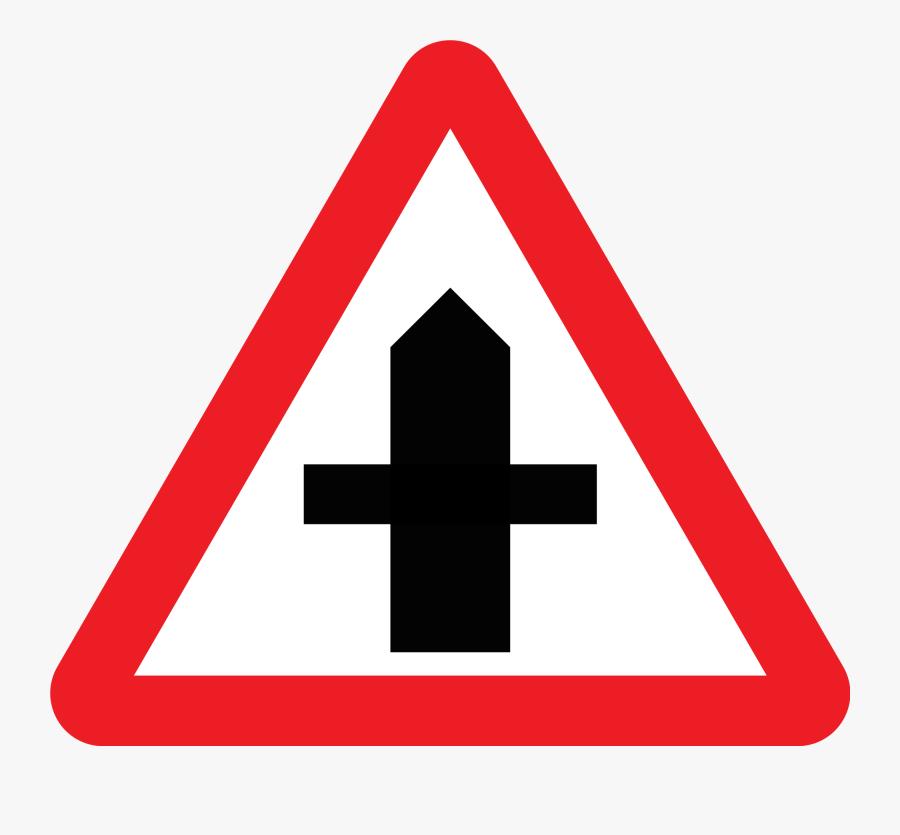 Cross Road Sign Uk, Transparent Clipart