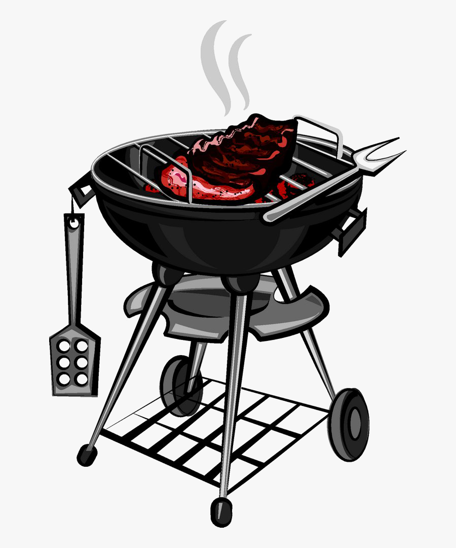 Transparent Grill Silhouette Png - Barbecue Grill, Transparent Clipart
