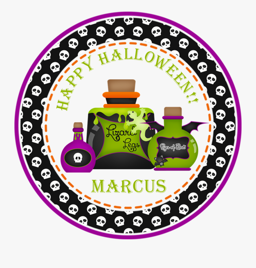 Poison Happy Halloween Stickers Or Favor Tags - Halloween Tags For Teachers, Transparent Clipart