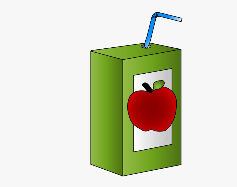 Transparent Carton Png - Apple Juice Box Clipart, Transparent Clipart