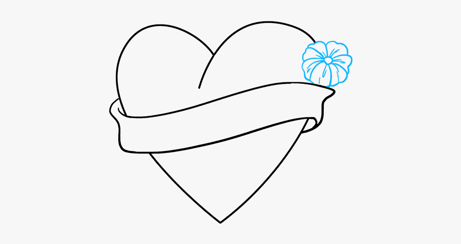 How To Draw - Love Heart Drawing 8, Transparent Clipart
