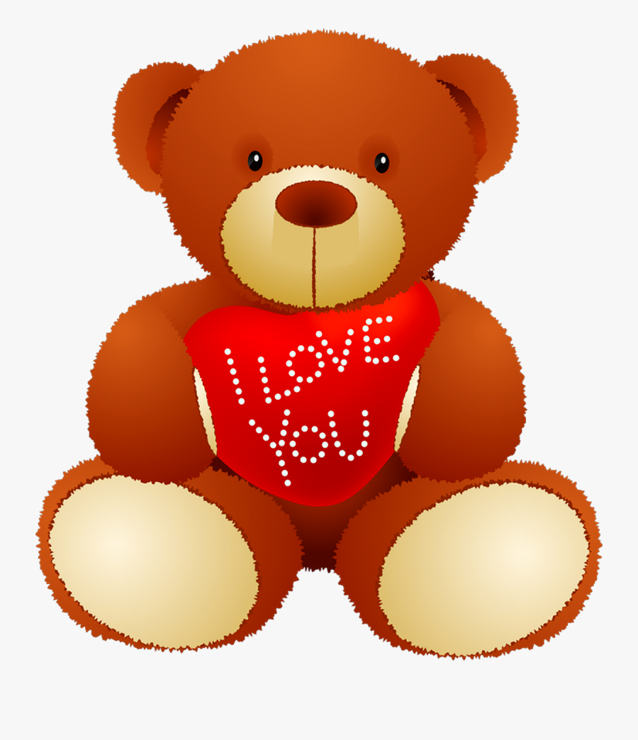 I Love You Teddy-bear - Love Teddy Bear Png, Transparent Clipart