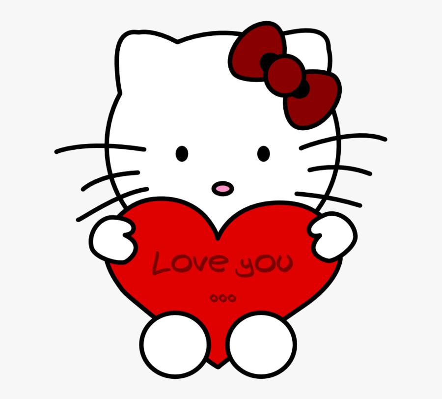 Transparent Sanrio Clipart - Hello Kitty Love You, Transparent Clipart
