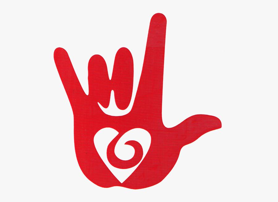 Clip Art Language Hand Vinyl Cutout - Love You Sign Language Png, Transparent Clipart
