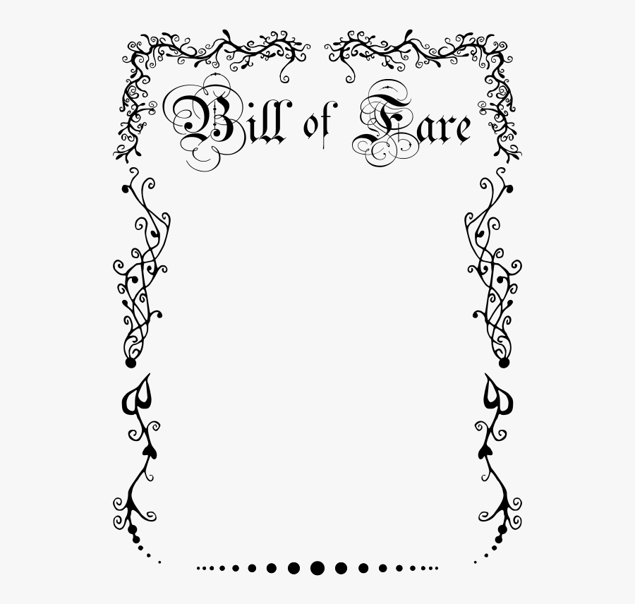 Bill Of Rights Border, Transparent Clipart