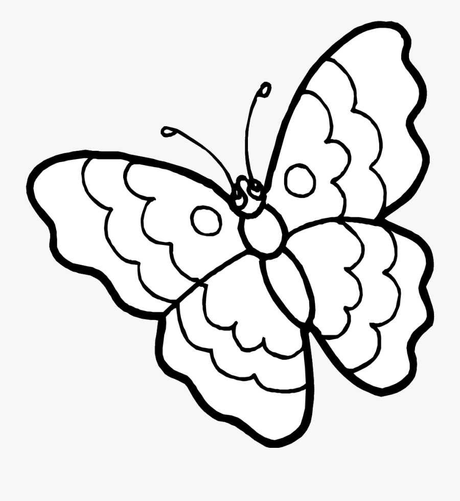 Free Printable Butterfly Coloring Pages - Outline Pictures Of Butterfly, Transparent Clipart