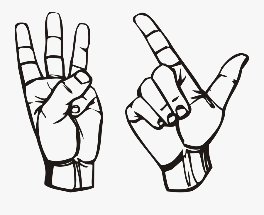 Hand Holding Up Three Fingers, Transparent Clipart