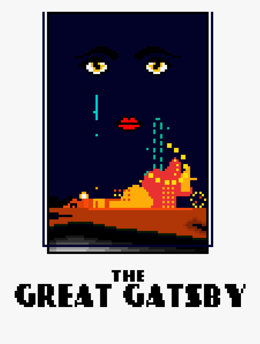 The Great Gatsby Book Cover - Pixel Art Book Cover, Transparent Clipart