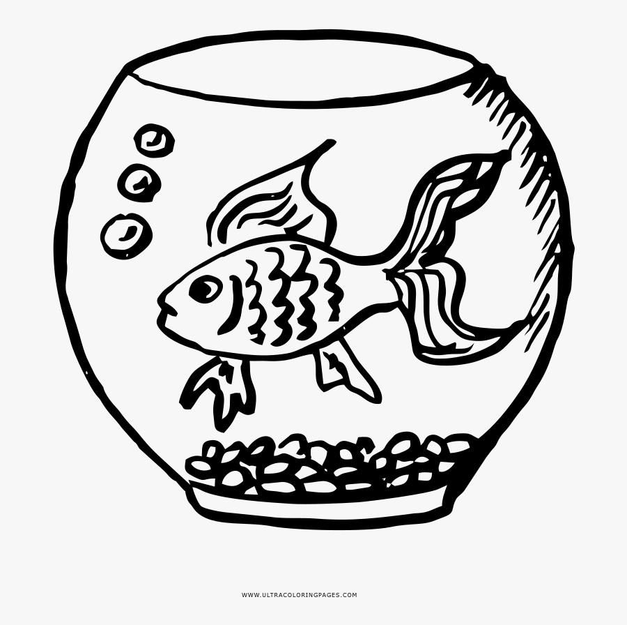 The Best Free Fish Bowl Coloring Page