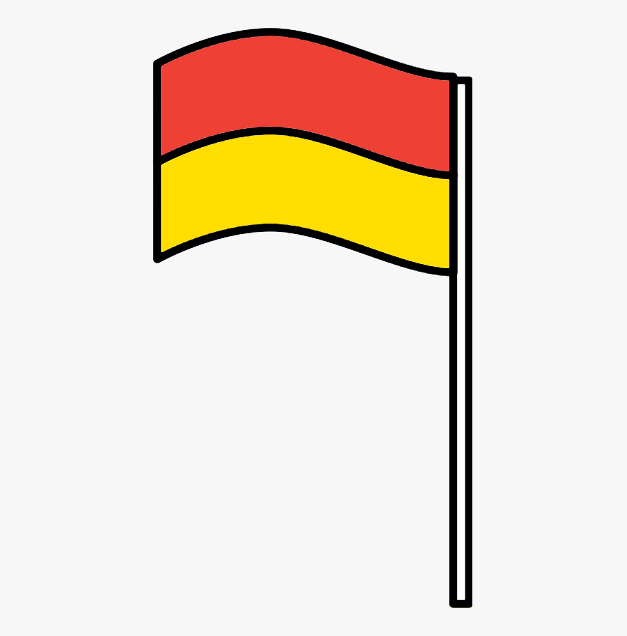 Life Saving Flag, Transparent Clipart
