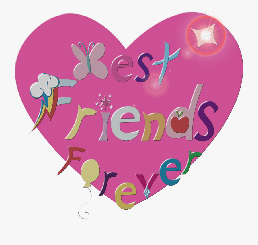 Best Friends Forever In Heart, Transparent Clipart
