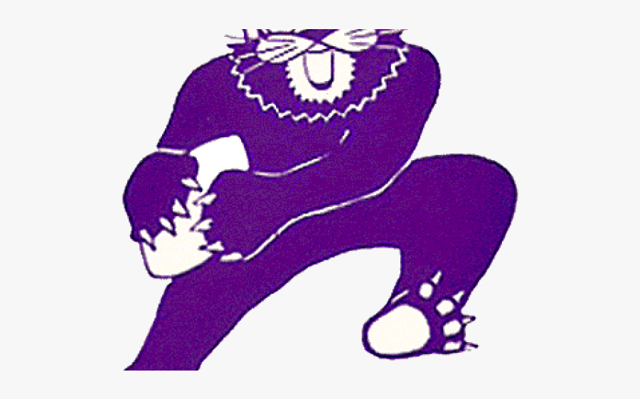Purple Clipart Wildcat - Northwestern Wildcats, Transparent Clipart