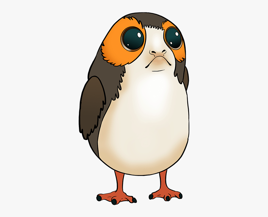 how to draw porg from star wars porg drawing easy free transparent clipart clipartkey how to draw porg from star wars porg