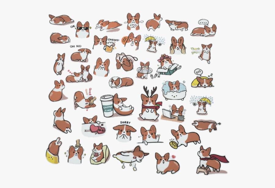 #doggy #dog #dogs #pet #cute #cuteanimals #cutedog - Corgi Dog Stickers, Transparent Clipart