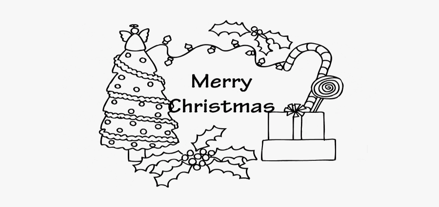 Printable Blank Christmas Card Coloring Pages - Easy Merry Christmas Colouring Pages, Transparent Clipart