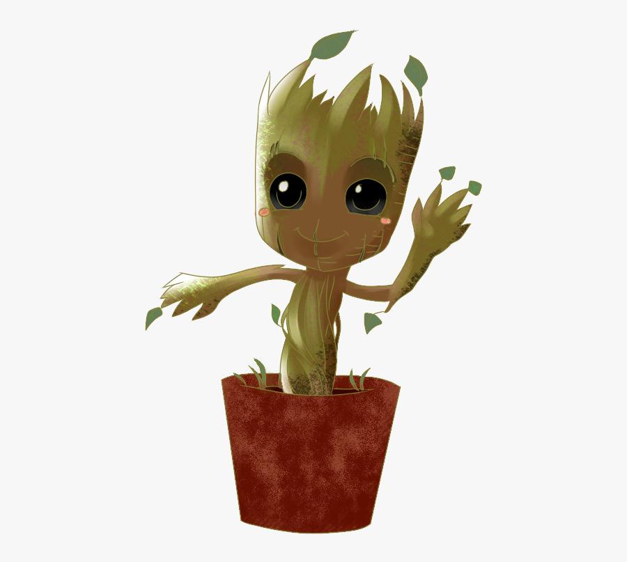 Baby Groot - Groot En Maceta Png, Transparent Clipart