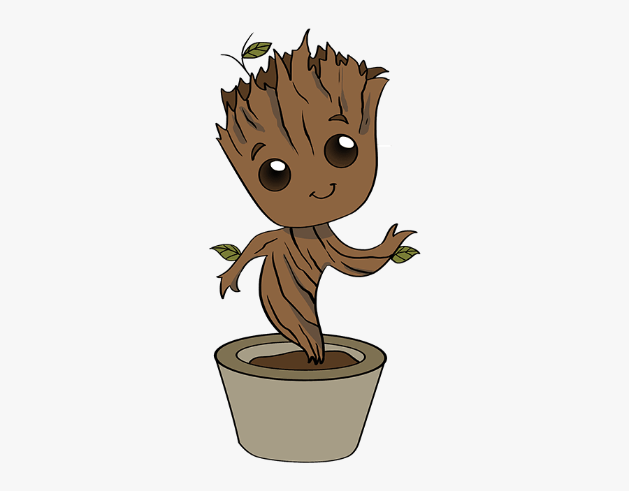 How To Draw Baby Groot - Baby Groot Drawing Easy, Transparent Clipart