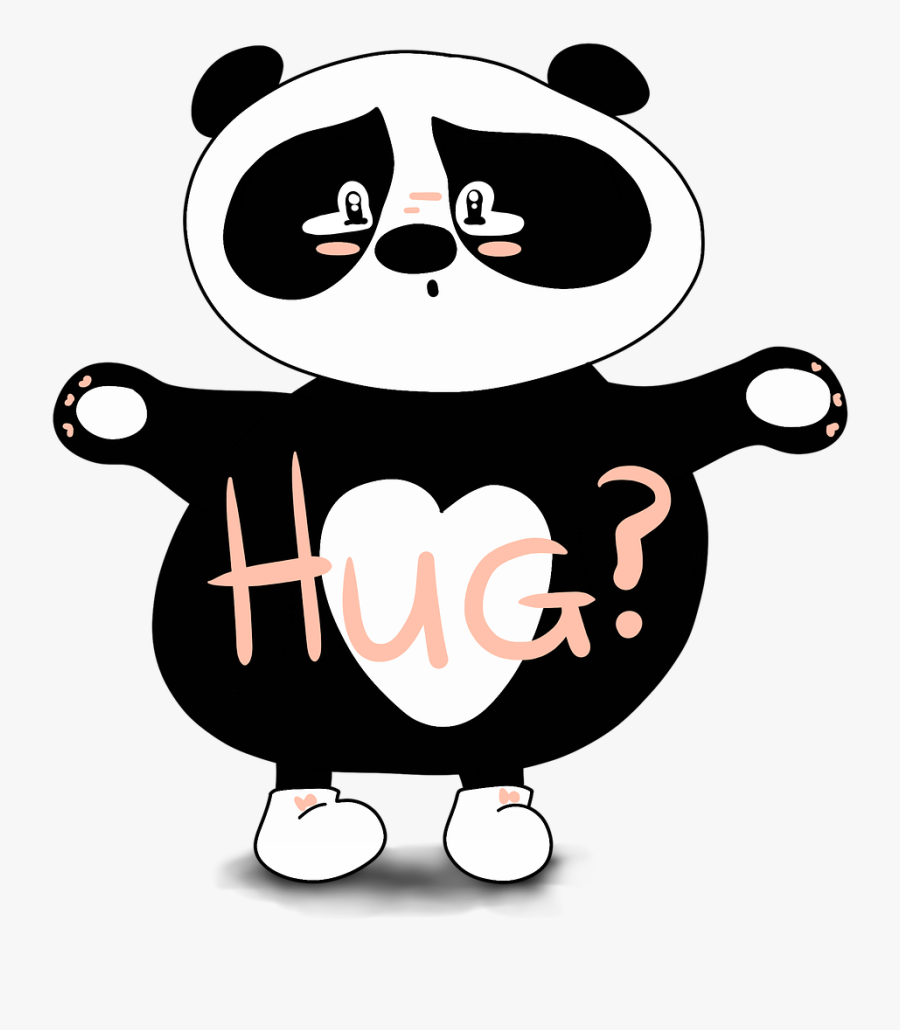Panda, Hug, Sorry, Cute, Cute Bear, Sad, Love Adorable - Cute Panda Sorry, Transparent Clipart