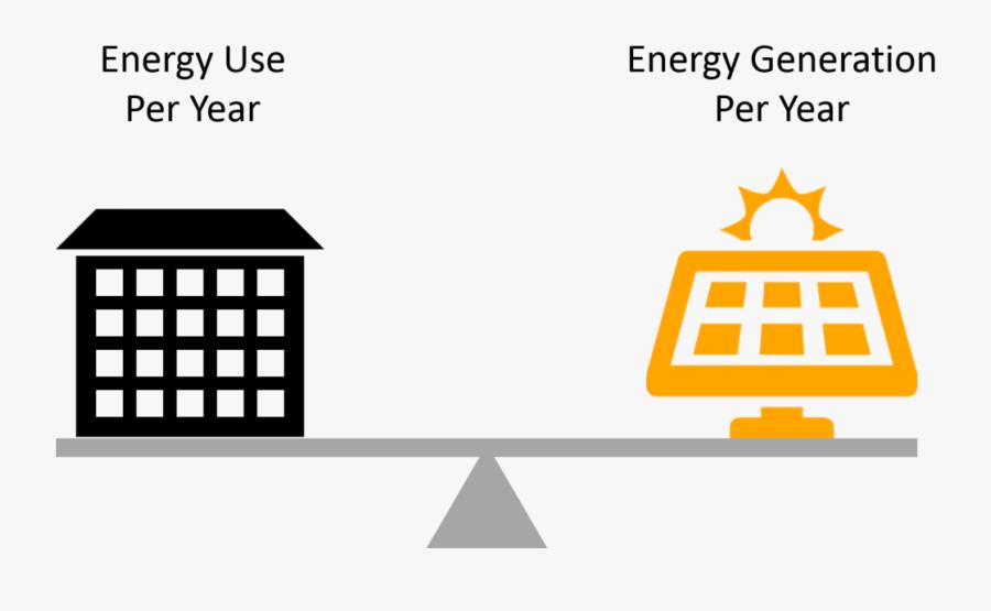 Net Zero Energy Building Symbol, Transparent Clipart