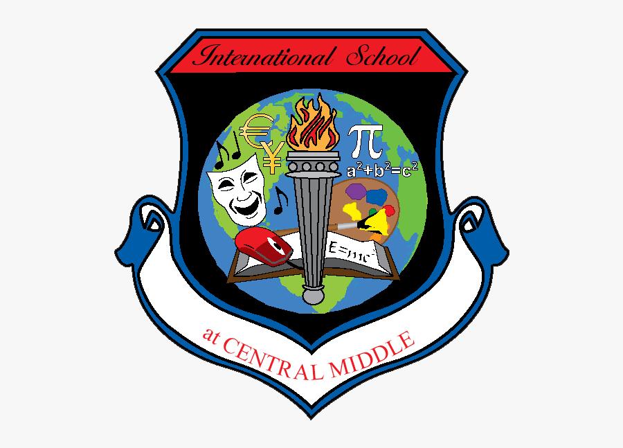 School Logo - Central Middle International School Kokomo Indiana, Transparent Clipart