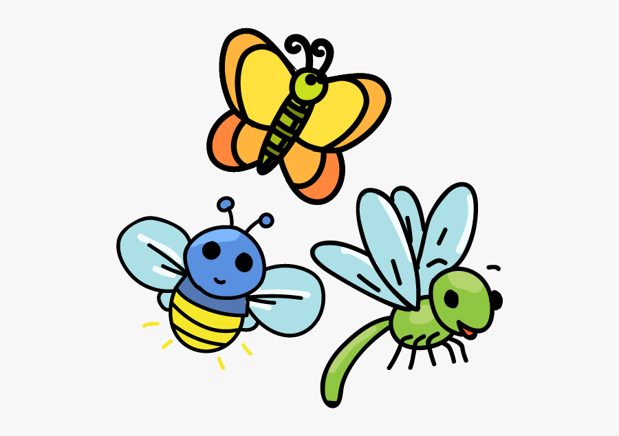 Bumble Bee - Dragon Fly And Butterfly Cartoons, Transparent Clipart