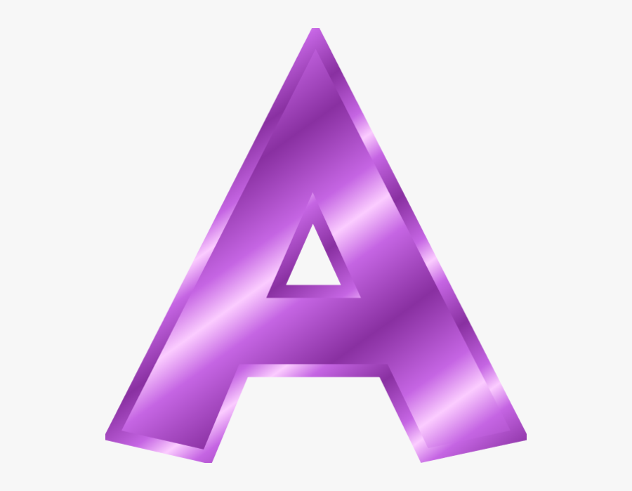Letter A Clipart Purple Letter A In Gold Free