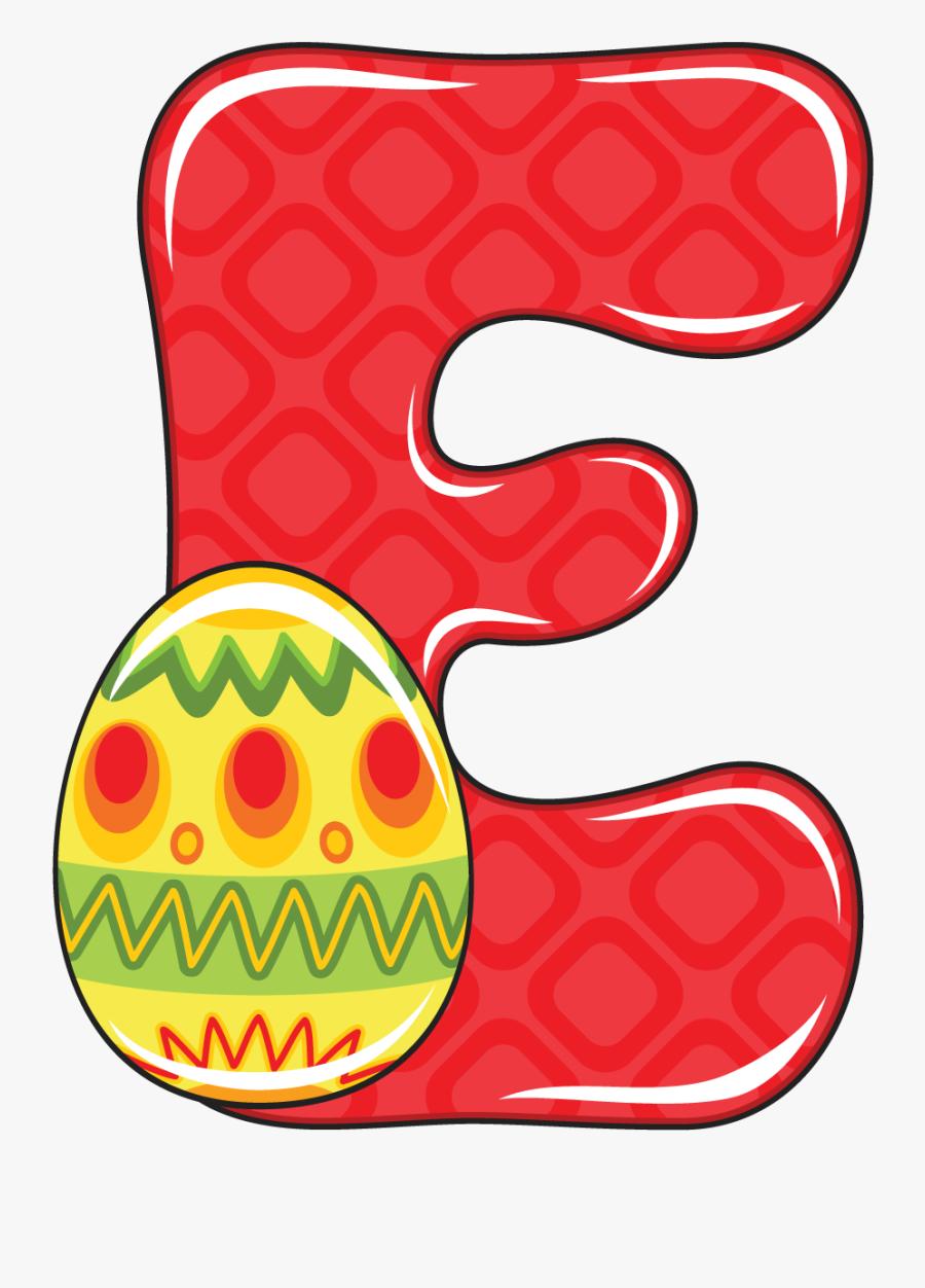 Svg Library Library Alfabeto Infantil E Letters - Easter Abecedario, Transparent Clipart