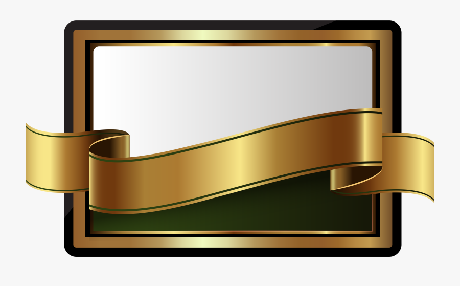 Label With Banner Template Png Clip Art - Gold Banner Png, Transparent Clipart