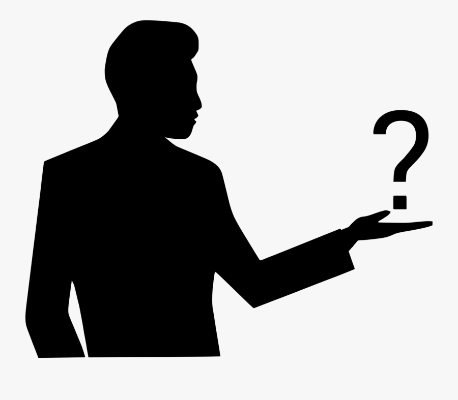 What You Are Doing Powerful Motivation To Lose Laziness - Silhouette Question Mark Man, Transparent Clipart