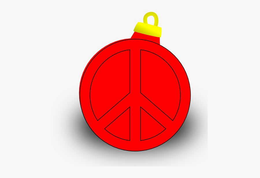 Xmas Ornament Christmas Holiday Peace Symbol Sign Coloring - Circle, Transparent Clipart