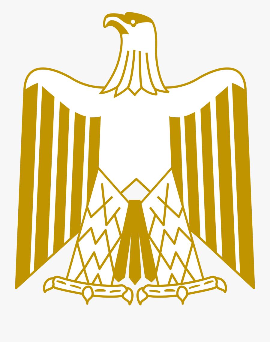 Line Art,symmetry,area - Escudo Bandera De Egipto, Transparent Clipart
