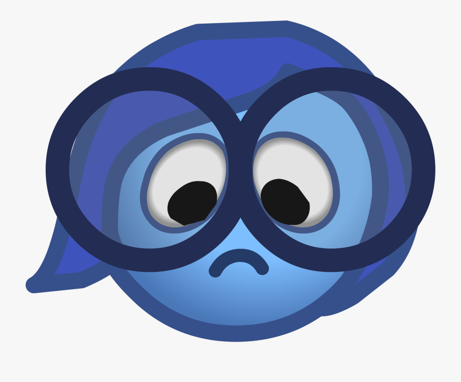 Club Penguin Inside Out Party Sadness Emote - Sadness Inside Out Emoji ,  Free Transparent Clipart - ClipartKey