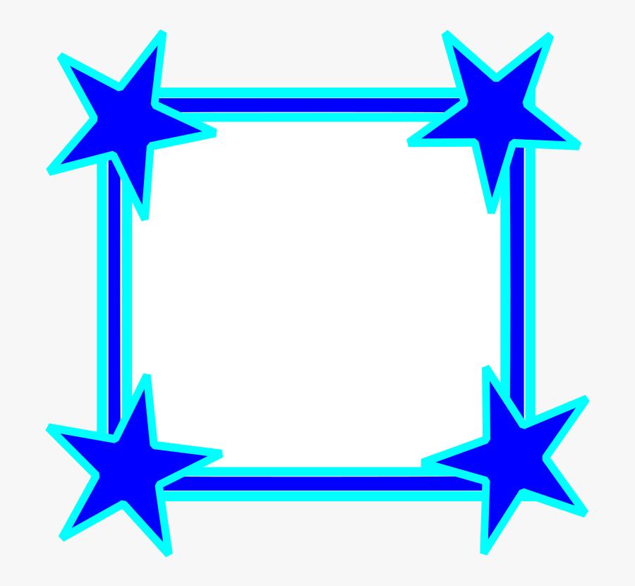 Clipart - Star Frame Png, Transparent Clipart
