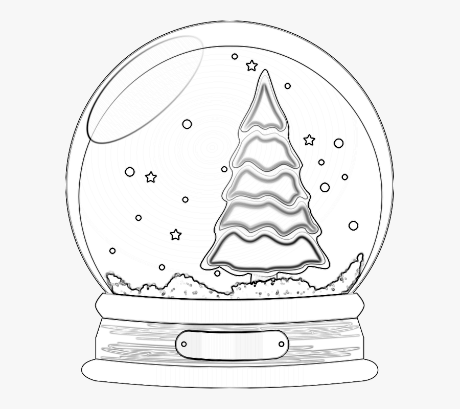 Transparent Snow Globes Clipart - Christmas Tree, Transparent Clipart