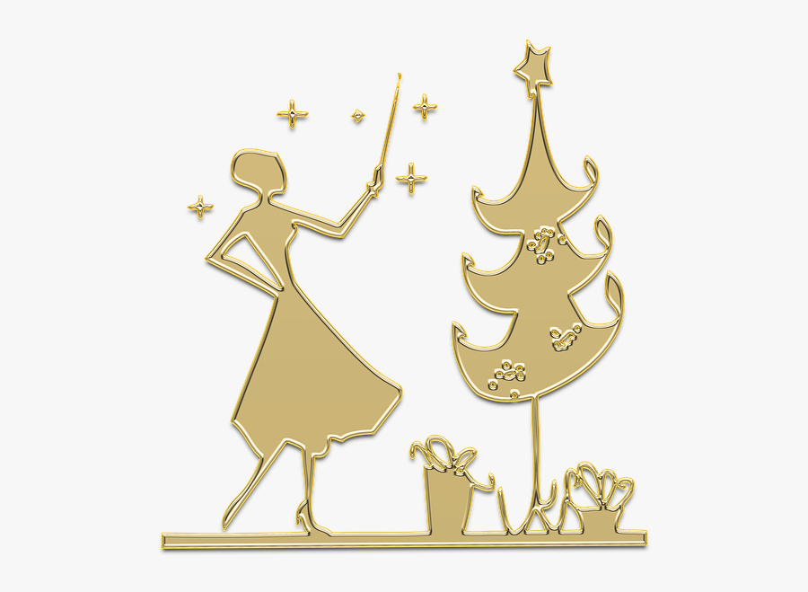 """New Year""""s Eve, Christmas, Christmas Tree, Golden - Christmas Панделки Png, Transparent Clipart"""