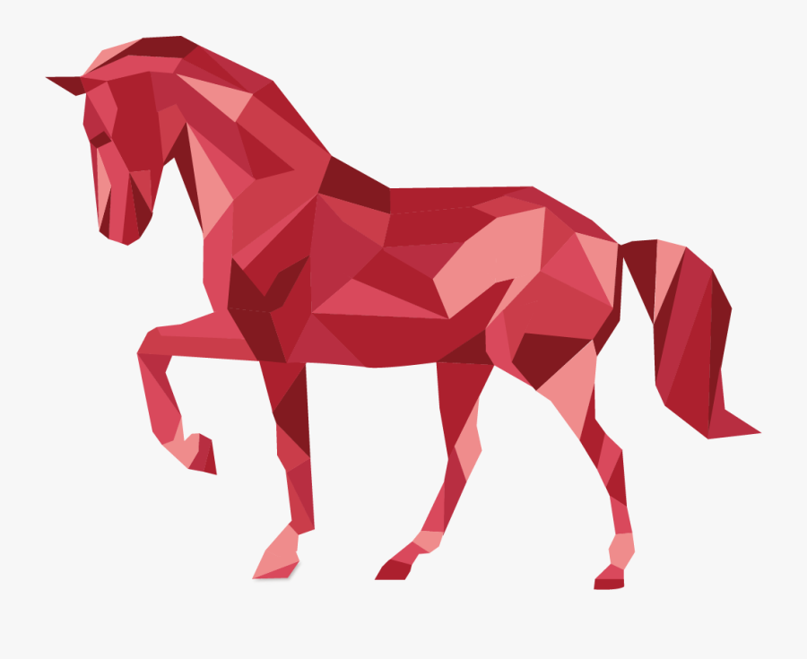 Horse Made Out Of Shapes, Transparent Clipart