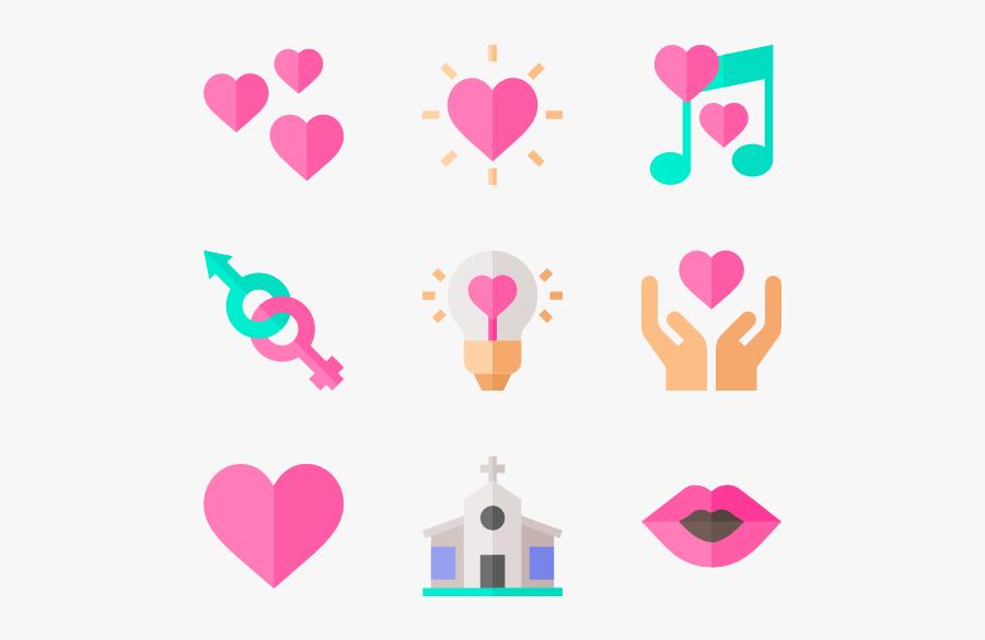 Heart,pink,clip - Heart, Transparent Clipart